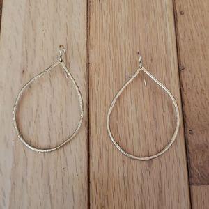 Hammered Teardrop Gold Earrings
